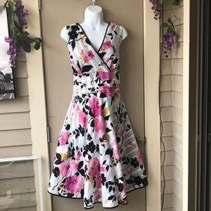 Floral tea length summer dress